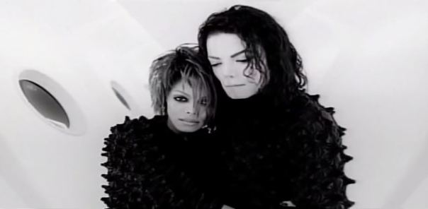 Scream - hugging Michael and Janet