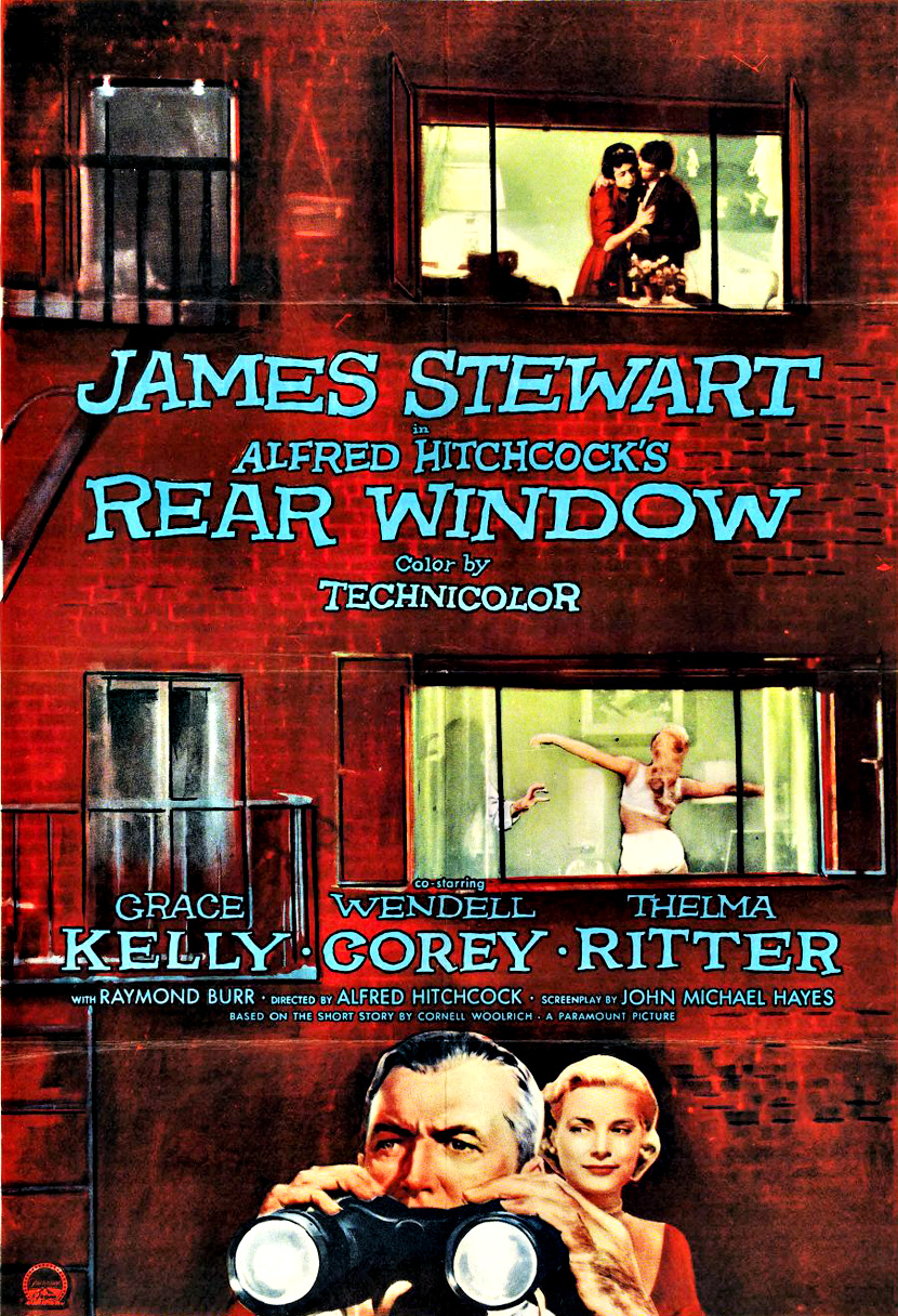 rear window dancing the elephant rear window movie poster 2