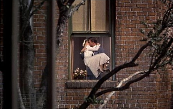 Rear Window newlywed couple