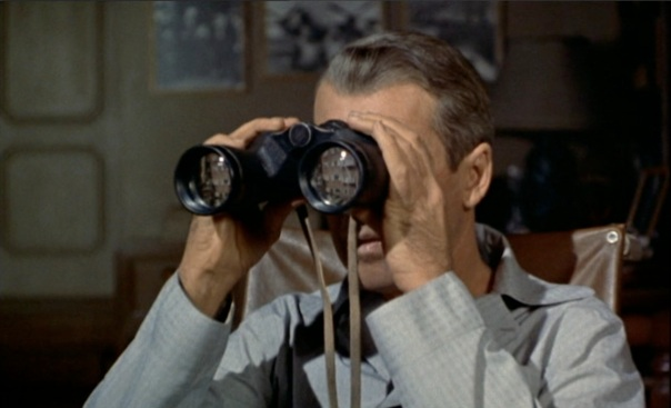Rear Window-with binoculars