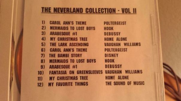 Neverland playlist from Brad Sundberg
